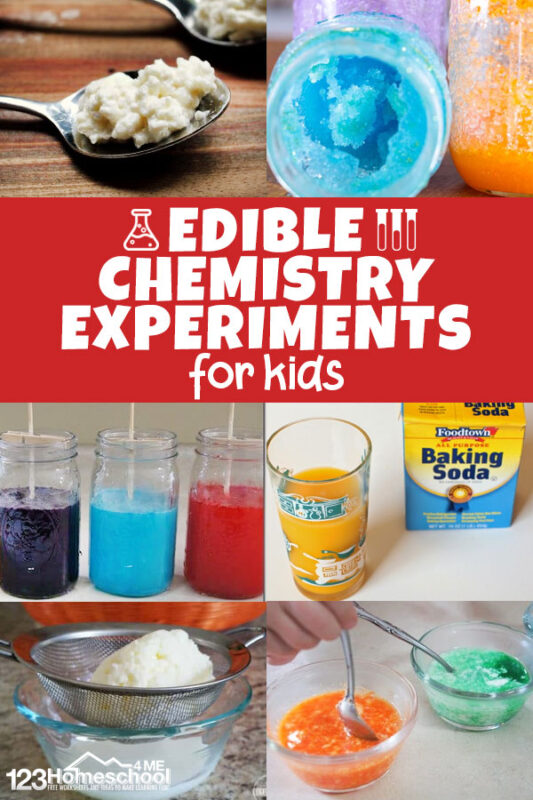 Kids will have fun exploring chemistry with these edible science experiments