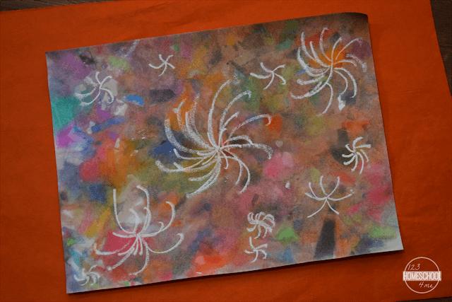 crayon-resist-fireworks-artproject-for-kids
