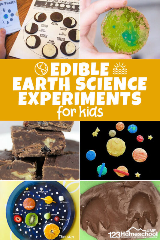 So many fun, creative, edible earth science experiments for kids of all ages