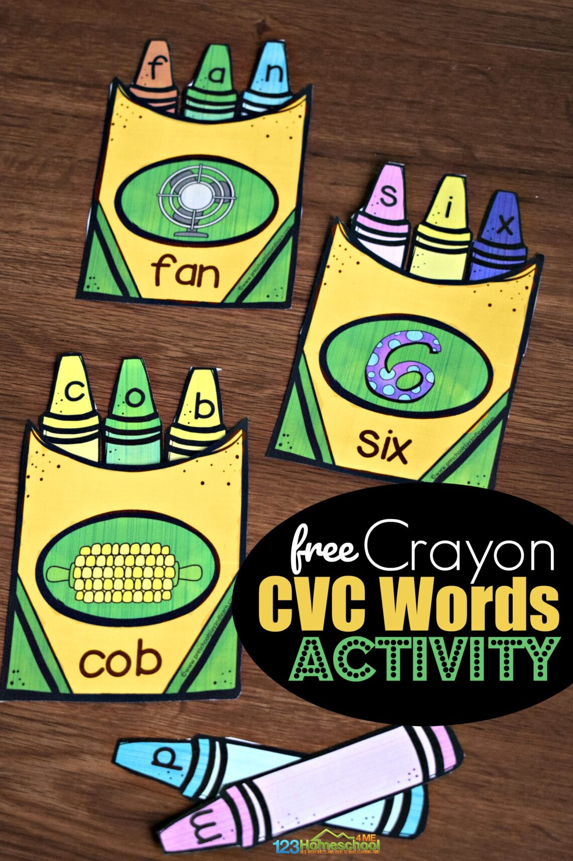 Crayon CVC WOrds Activity