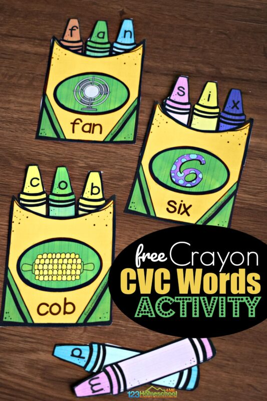 Crayon CVC WOrds Activity
