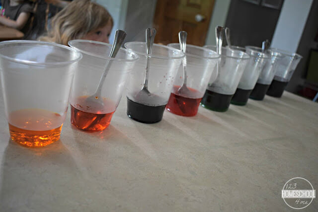 half-cup-water-with-food-coloring-to-make-8-colors