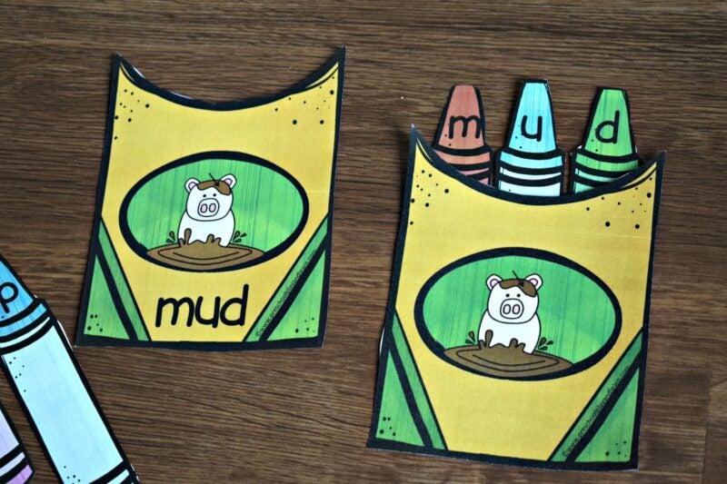 free kindergarten spelling activity for kindergartners
