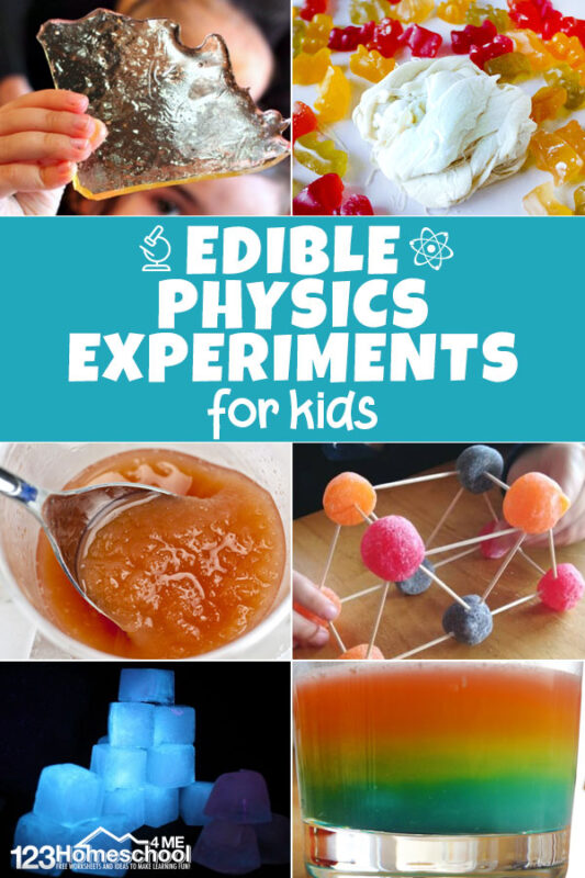 These edible physics experiments are sure to get kids from preschool to kindergarten and elementary age interested in science
