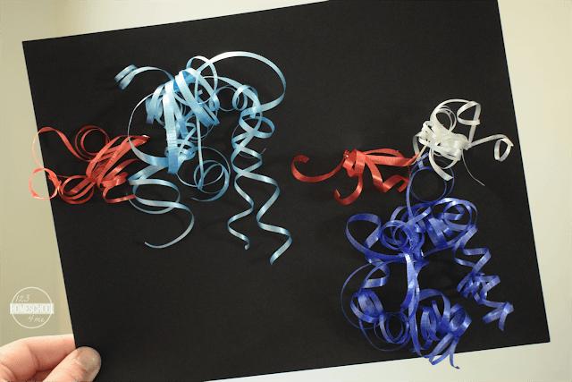 Ribbon Fireworks Art