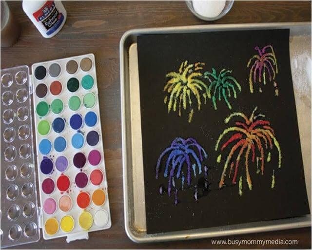 salt-fireworks-craft-for-kids