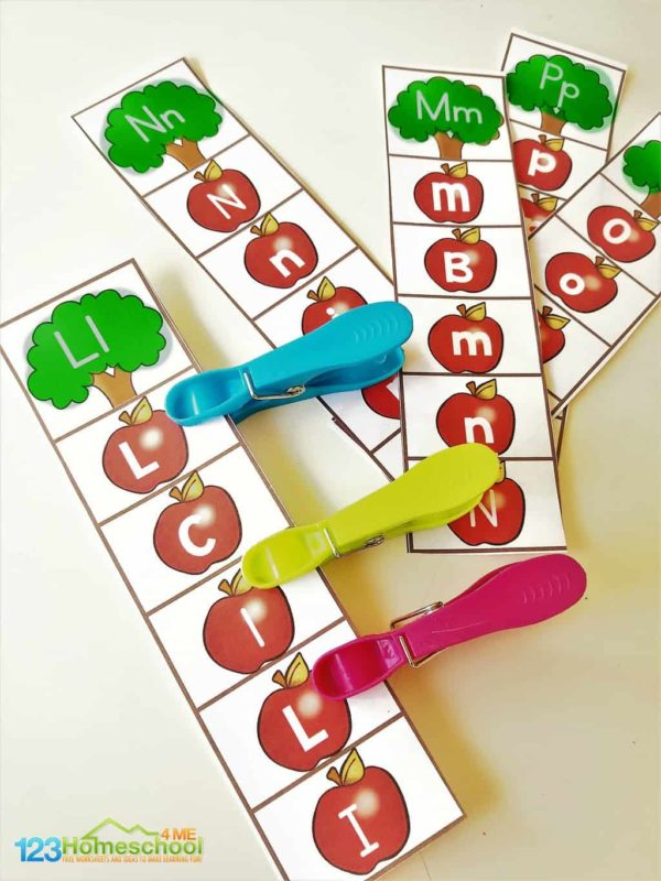 super cute alphabet apple activities for preschool, kindergarten, and grade 1 students perfect for back to school or the first day of school