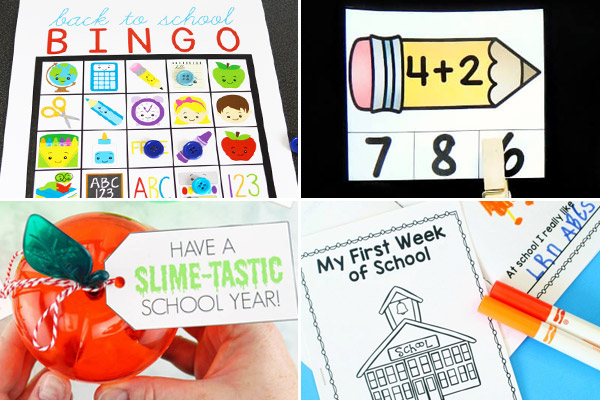 Lots of fun, clever and FREE back to school activities for school age kids