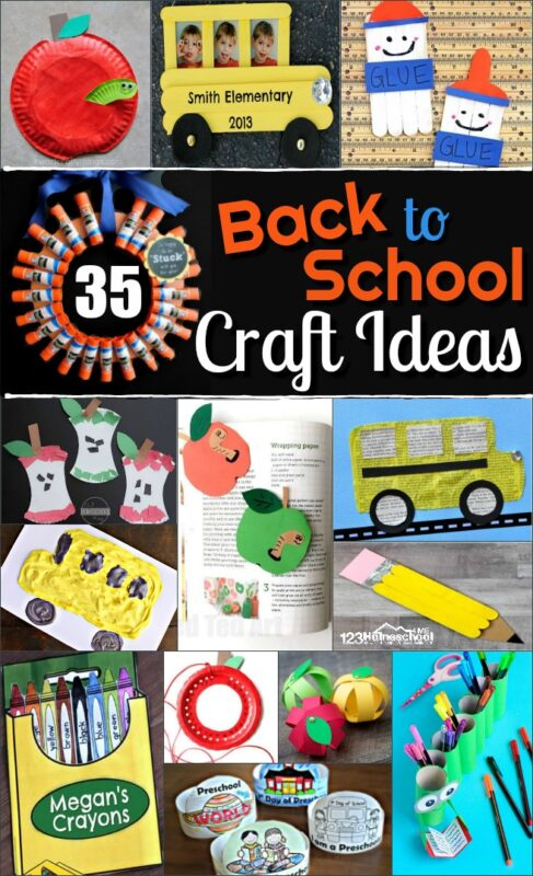 35 EPIC Back to School Craft iDeas