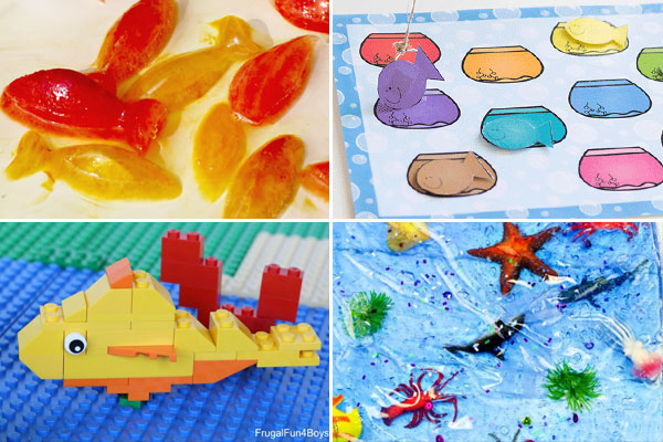 So many super cute fish activities for kids of all ages