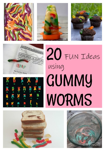 20 Gummy Worm Activities, Games, & Treats - fun ideas to celebrate National Gummy Day on July 15. This is such a fun holiday to celebrate #funholiday #specialdays #gummybears