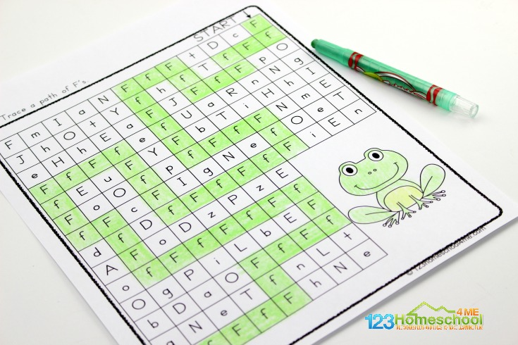 free printable Letter F maze