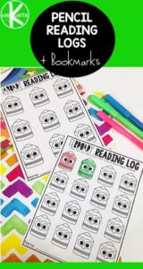 pencil free printable reading logs