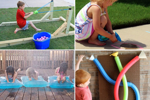 Kids will have fun playing with water with these fun, clever water play activities for summer