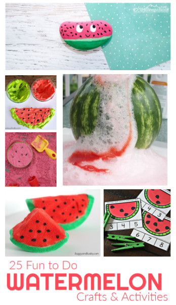funwatermelon theme where we makewatermelon crafts, try lots of outrageously funwatermelon activities, sneak in some educational watermelon projects withwatermelon printables, and of course eat some watermelon slices! Try thesewatermelon day activities to celebratewatermelon dayon August 3rd with your toddler, preschool, pre-k, kindergarten, first grade, 2nd grade, 3rd grade, and 4th graders too. Which of thesewatermelon activity ideas will you try first?