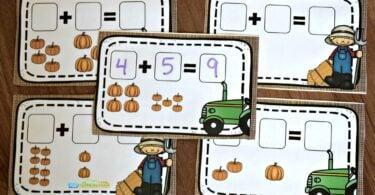 educational pumpkin activity for kindergarten age kids