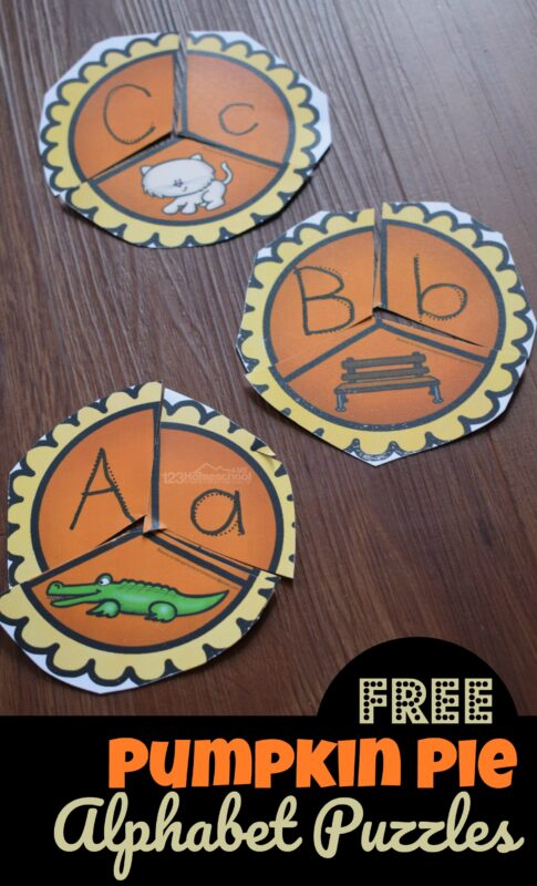 Kids will have fun practicing letter tracing and recognizing beginning sounds with these free printable pumpkin puzzles. Grab the alphabet tracing puzzle with a fun fall or pumpkin them perfect for teaching phonics and literacy skills to preschool, pre k, kindergarten, and grade 1 students. These pumpkin puzzle are great for making learning fun for school in October and November.