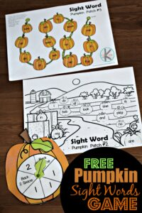 Pumpkin Sight Words game