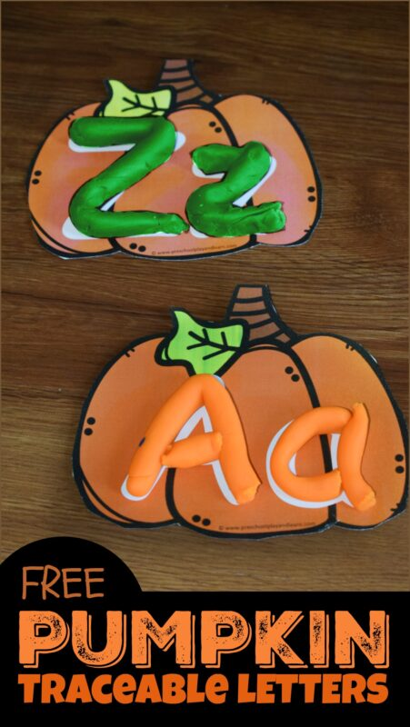 Pumpkin Alphabet Tracing