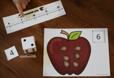 This Apple Activities for Preschool allows kids to practice counting to 20 and adding as well.