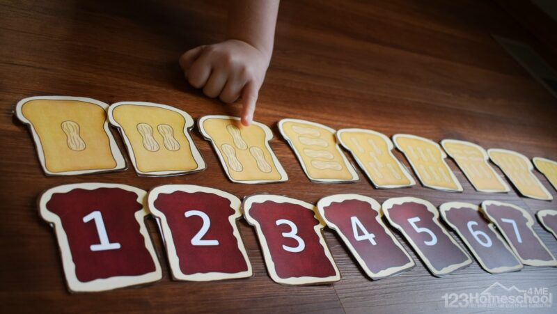 this is such a cute number line activity for kindergarten age kids during september