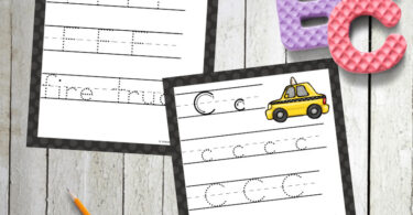 free printable handwriting pages for preschoolers and kindergartners witha fun truck, car theme
