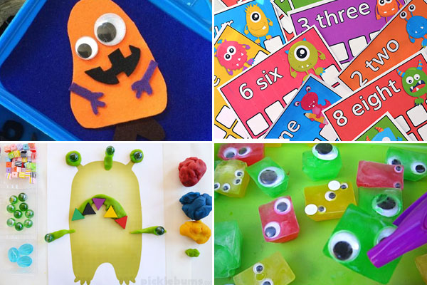fun monster activiteis for kids