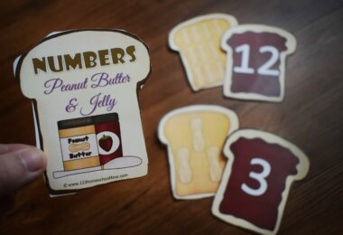 Numbers Peanut Butter and Jelly Matching