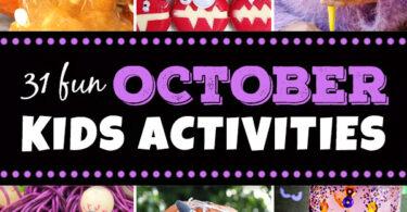 Octoboer Kids Activites