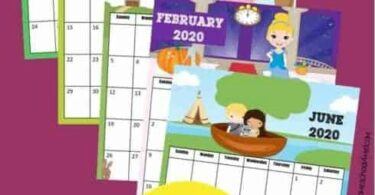 Who better than to help kids learn about calendars than princesses! Kids will love keeping track of upcoming holidays while learning about the days, months, and weeks of the year with this super cute, free printable Princess Calendar. This pdf file template includes your child's favorite Disney princess such as Princess Tiana, Princess Jasmine, Queen Elsa, Princess Anna, Princess Rapunzel (Tangled) , Snow White, Cinderella, Belle, Mulan, Sleeping Beauty (Aurora), Merida, Pocahontas, and Ariel (Little Mermaid), and more! Print the pages and assemble your free calendar for  toddler, preschool, pre k, kindergarten, first grade, 2nd grade and more!