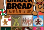 If you are looking for lots of really fun Gingerbread Crafts and Gingerbread Activities to celebrate the holiday season this December, you are going to love these super cute,  fun-to-make projects! All these gingerbread craft ideas are perfect for toddler, preschool, pre-k, kindergarten, first grade, and 2nd grade students.
