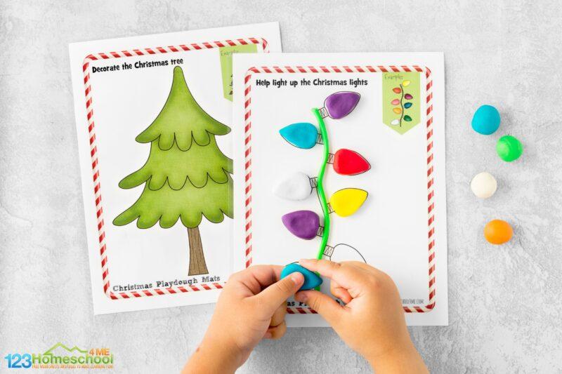 Play Doh Christmas printable