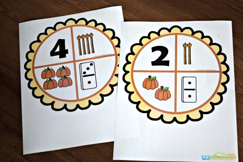 educational pumpkin activity for preschool and kindergarten age kids