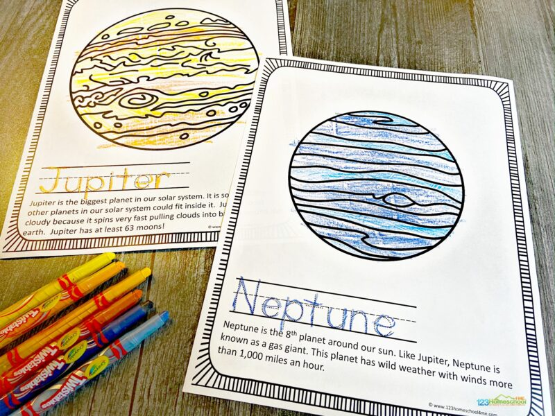 Solar System Coloring Page