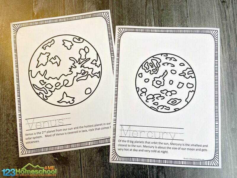 Solar System Colouring Pages