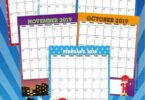 Kids will love keeping track of upcoming holidays while learning about the days, months, and weeks of the year with this super cute, free printable Princess Calendar. This pdf file template includes your child's favorite superhero such as Batman, Robin, Captain America, Ironman, Flash, Green Lantern,  Spiderman, and more! Print the pages and assemble your free calendar for  toddler, preschool, pre k, kindergarten, first grade, 2nd grade and more!