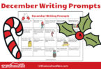 Deember Writing Prompts Calendar for kindergarten, first grade, 2nd grade, 3rd grade, and 4th grade kids