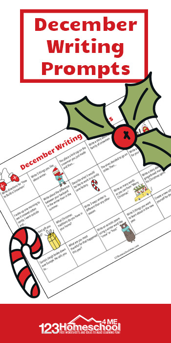 Make practicing writing fun and EASY with this FREE printable December Writing Prompts. This writing prompts calendar is perfect for kids of all ages.
