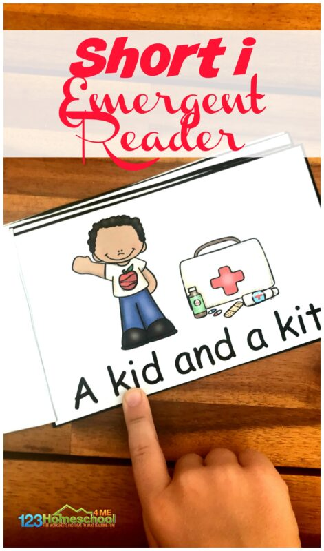 Help kids practice short i words with this free printable cvc words emergent reader.  This is such a great early reading activity. #cvcwords #shortiwords #emergentreader
