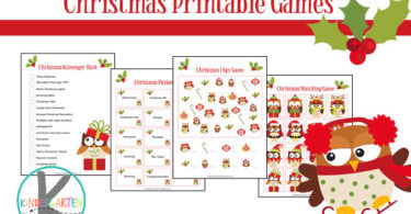 Christmas Printable Games for kids