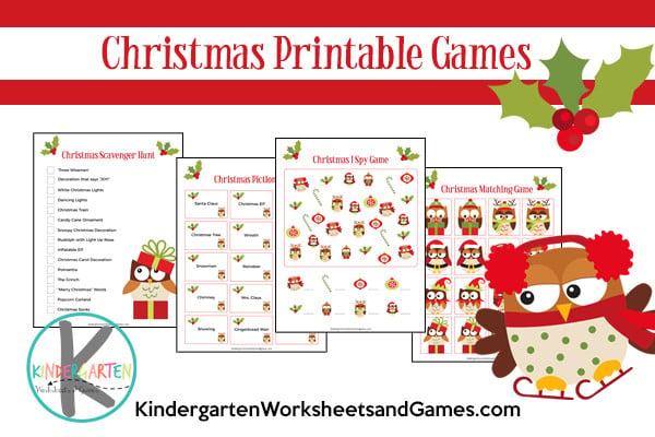 Christmas Printable Games for kids