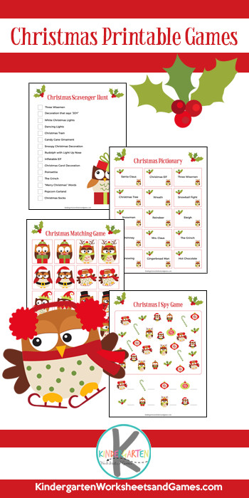 Grab these FREE Christmas Printable Games for some quick and easy holiday fun during December with kids of all ages! Just print and play this Christmas Scavenger Hunt, Christmas Pictionary, Christmas Matching Game, and Christmas I Spy Games! These printable Christmas games are perfect for preschool, pre-k, kindergarten, first graders, and 2nd graders.