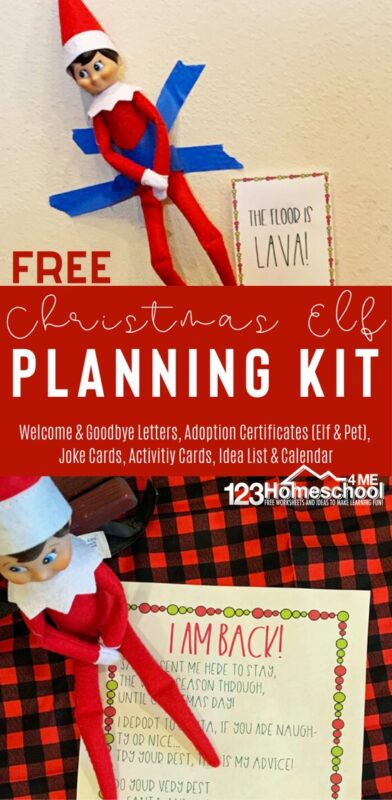Take the work out of planning your Elf on the Shelf antics for December with these super cute, fun and FREE Elf on the shelf ideas! Simply download pdf file and print our Elf on the Shelf printables for a welcome back letter, Elf on the Shelf jokes, a whole months worth of fun elf ideas for your toddler, preschool, pre-k, kindergarten, first grade, and elementary age kids this holiday season.