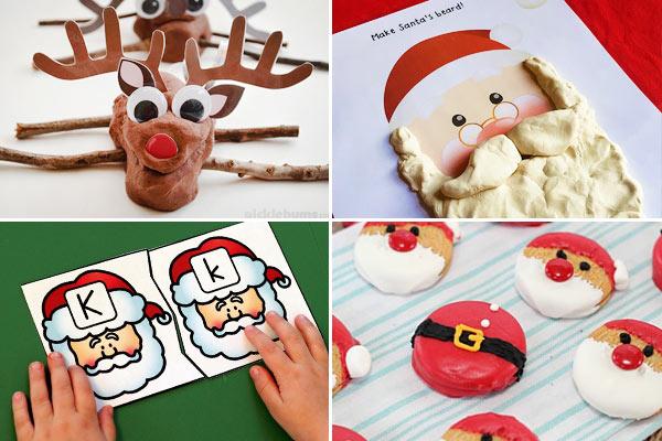 santa nad reindeer activities for kids