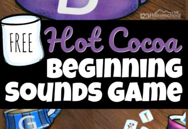 Make listening for initial sounds in words FUN with this beginning sounds match! Use this hot cocoa themed phonics activity in December, January, and February. The winter printables has kindergarten, pre-k, and first grade students sort the phonics marshmallows into the correct alphabet mugs based on the beginning sounds for kids. Add thisphonics printable to your winter theme for literacy. Simply download pdf file with the beginning sounds game to make learning fun even if it is cold and snowy outside!