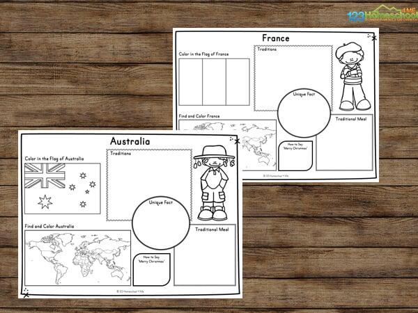 Children around the world printables