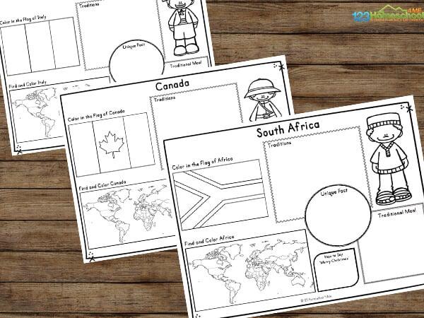 Children around the world worksheets
