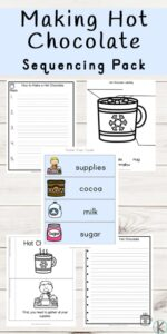 how to make hot chocolate sequencing pictures