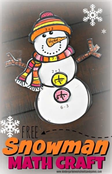 Snowman Math Craft