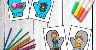 Winter Rhymes - free printablerhyming activity for prek, kindergarten, and first grade kids to improve reading readiness and literacy with a fun winter educational activity #rhying #winterprintable #kindergarten